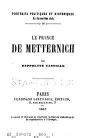 Le prince de Metternich
