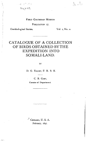 Catalogue of a Collection of Birds Obtained by the Expedition Into Somali-land