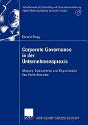 Corporate Governance in der Unternehmenspraxis PDF