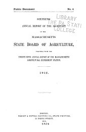 Annual Report of the Secretary: Volume 60, Part 1912