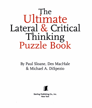 The Ultimate Lateral   Critical Thinking Puzzle Book PDF