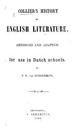 Collier's History of English Literature, abridged and adapted for use in Dutch schools by P. H. van Moerkerken