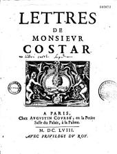 Lettres de Monsieur Costar: Volume2
