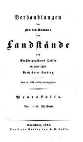 Verhandlungen der Zweiten Kammer der Landstände des Großherzogthums Hessen: 1850
