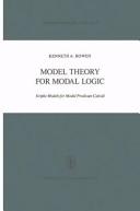 Model Theory for Modal Logic