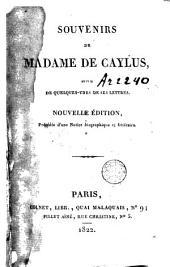 Souvenirs de Madame de Caylus