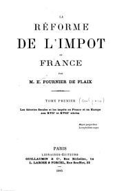 La réforme de l'impôt en France: Volume1