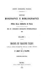 Studi biografici e bibliografici sulla storia della geografia in Italia: Volume 1