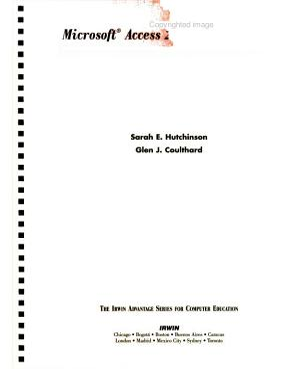Microsoft Access 2 0 for Windows PDF