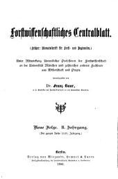 Forstwissenschaftliches Centralblatt: Band 2