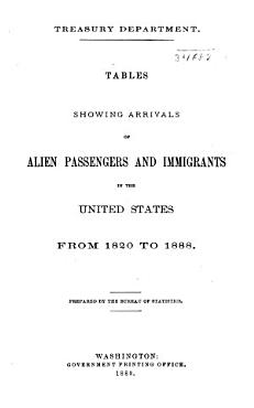 Arrivals of Alien Passengers and Immigrants in the United States from 1820 to      PDF