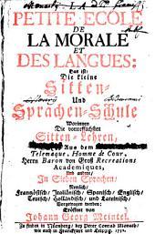 La Petite Ecole de la morale, et des Langues