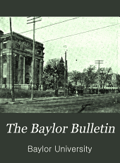 The Baylor Bulletin: Volume 11, Issue 2