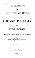 Supplement to the Catalogue of Books in the Mercantile Library of the City of New York PDF