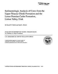 Sedimentologic Analysis of Cores from the Upper Triassic Chinle Formation and the Lower Periman Cutler Formation  Lisbon Valley  Utah Book
