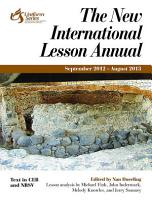 The New International Lesson Annual 2012 2013 PDF