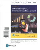 Essentials of Entrepreneurship and Small Business Management  Student Value Edition PDF