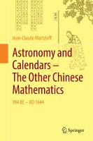 Astronomy and Calendars     The Other Chinese Mathematics PDF