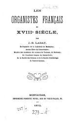Les Organistes français du XVIIIe siècle