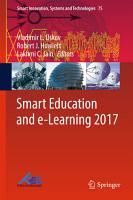 Smart Education and e Learning 2017 PDF