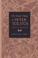 The Travel Diary of Peter Tolstoi