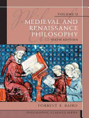 Medieval and Renaissance Philosophy PDF