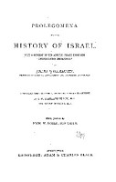 Prolegomena to the History of Israel PDF
