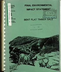Flathead National Forest N F Bent Flat Timber Sale Book PDF