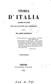 Storia d'Italia, dai tempi più antichi fino all'invasione dei Longobardi