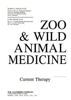 Zoo   Wild Animal Medicine PDF