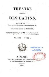 Théâtre complet des latins