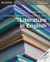 Cambridge International AS and A Level Literature in English Coursebook PDF