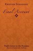 Final Account PDF