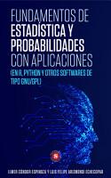 Fundamentos de Estad  stica y Probabilidades con aplicaciones PDF