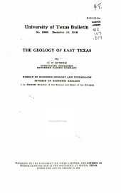 The Geology of East Texas: Issue 1869