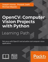 OpenCV  Computer Vision Projects with Python PDF