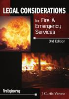Legal Considerations for Fire and Emergency Services  3rd Edition PDF