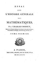 Essai sur l'histoire générale des mathématiques: Band 1