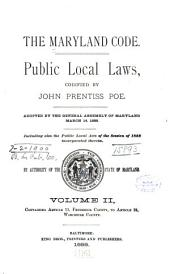 Containing Article 11: Frederick County, to Article 24: Worcester County
