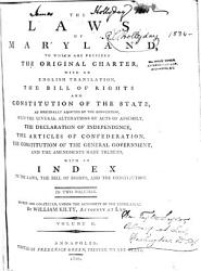The Laws Of Maryland 1785 1799 Book PDF