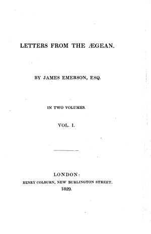 Letters from the Aegean