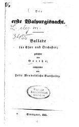 Die erste Walpurgisnacht PDF