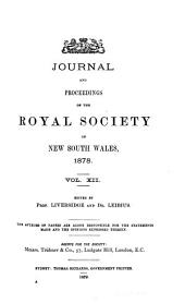 Journal and Proceedings of the Royal Society of New South Wales: Volume 12