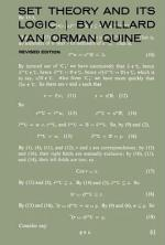 Set Theory and Its Logic, Revised Edition