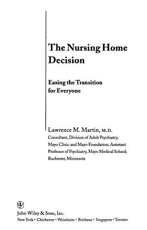 The Nursing Home Decision