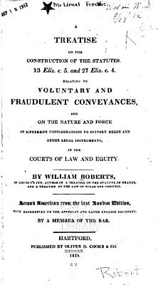 A Treatise on the Construction of the Statutes
