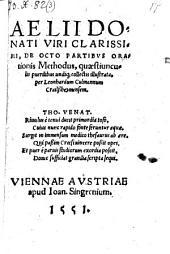 De octo partibus orationis methodus, quaestiunculis puerilibus undique collectis illustrata per Leonhardum Culmannum