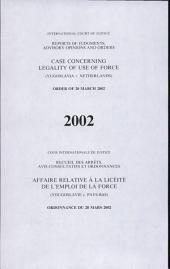 Affaire relative à la licéité de l'emploi de la force (Yougoslavie c. Pays-Bas)