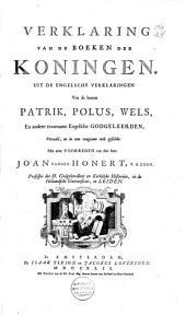 Verklaring van de boeken der Koningen