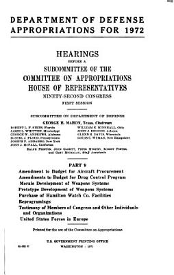 Department of Defense Appropriations for 1972 PDF